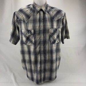Western Frontier Mens Shirt Pearl Snap Large (M10)